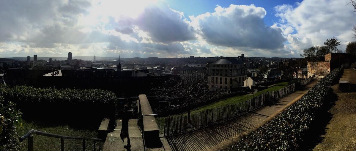 Vue panoramique de Liège